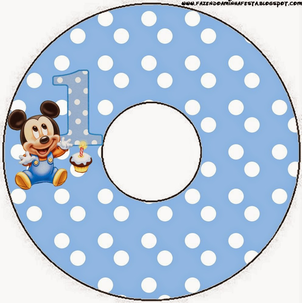 CD labels of First Year of Mickey with Polka Dots.