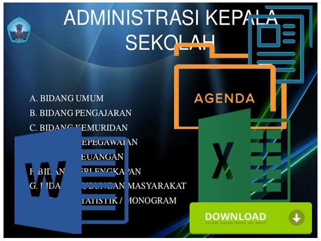 Contoh Format Administrasi Kepala Sekolah SD SMP SMA Format Excel