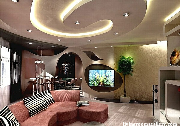 Puzzle Lights Luxury Gypsum Ceiling Design 2015 With Led Ceiling Lights For Living  Room