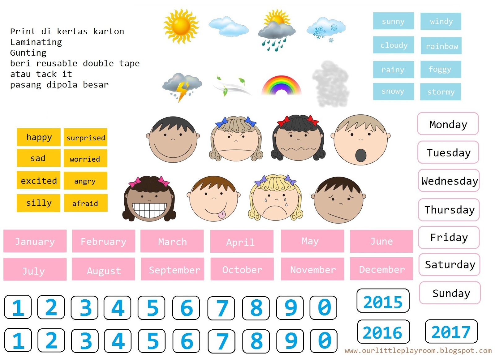 Worksheets Worksheet-bahasa-indonesia our little playroom 2015 today hanging chart
