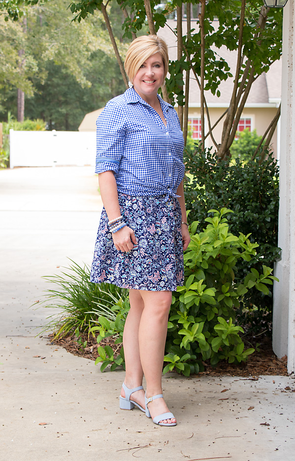shades of blue outfit