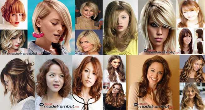 Model Rambut Wanita Korea Untuk Wajah Bulat