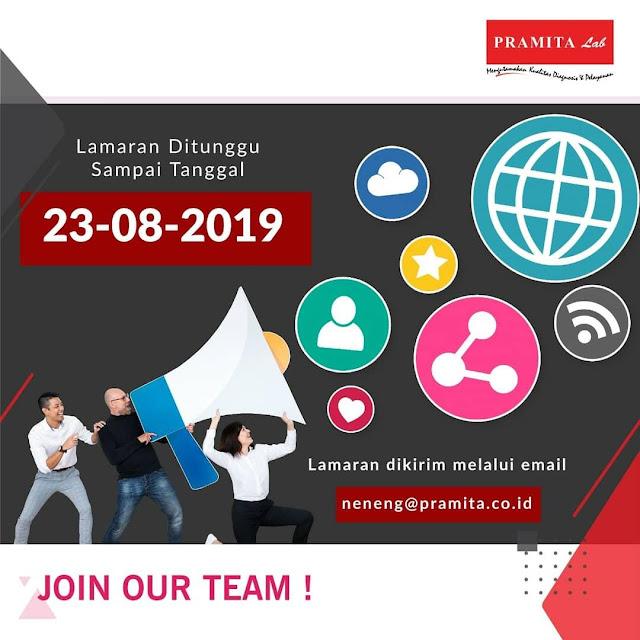 Job Vacancies Public Relations, Staf Markom Klinik Pramita Bandung