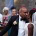 Check out this Nigerian mum's facial expression as her son kissed his bride at the altar