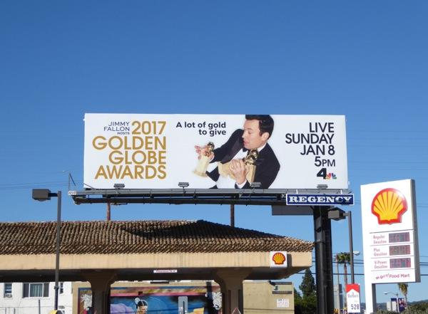 Jimmy Fallon 2017 Golden Globes billboard