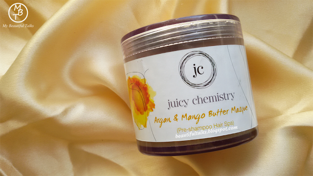 Juicy Chemistry Argan & Mango Butter Masque (Pre-Shampoo Hair Spa) Review