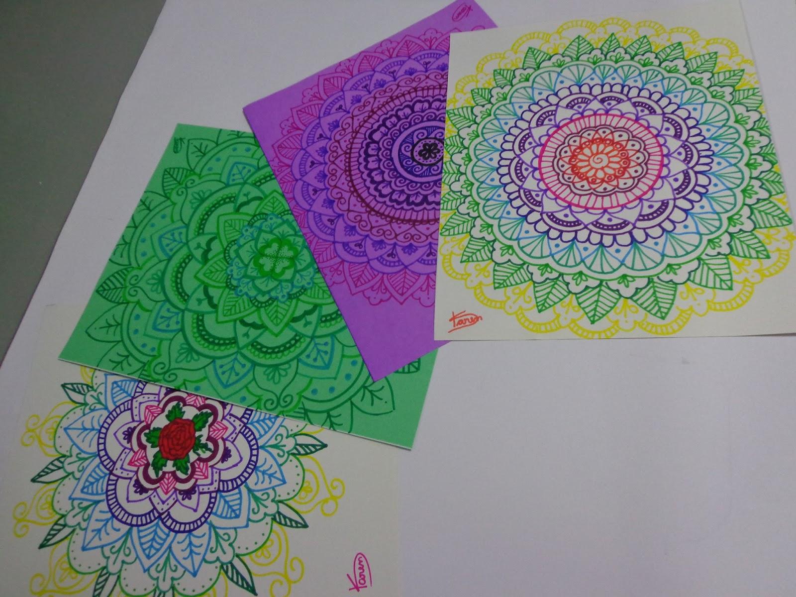 Artes Da Karen Mandalas Coloridas