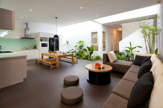 Sala y cocina en un ambiente colores en casa for Cocina y sala en un solo ambiente