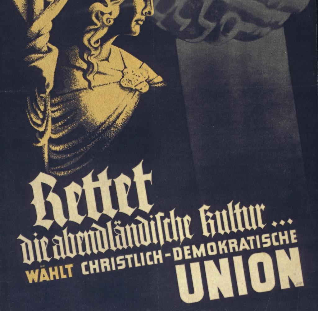 Wahlplakate Cdu 1991