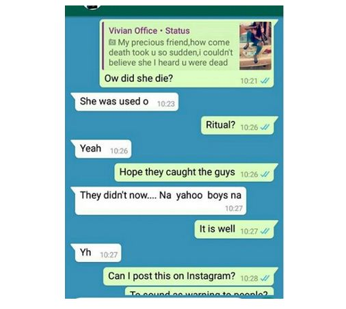 Young Lady Used For Ritual By Yahoo Boys In Osun (Photos)