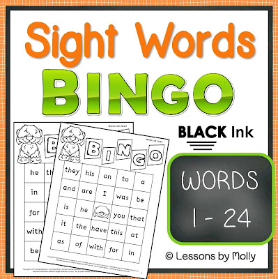 https://www.teacherspayteachers.com/Product/sight-words-BINGO-words-1-through-24-BLACK-ink-317959
