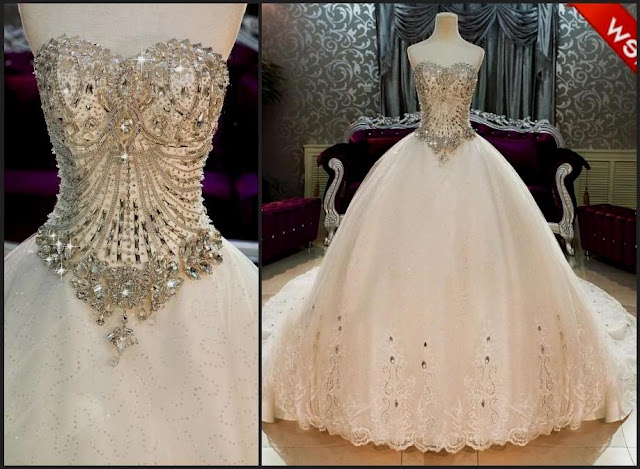 Princess Ball Gown Wedding Dresses With Bling