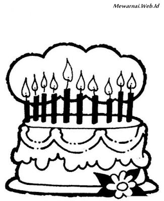 Mewarnai Kue Ulang Tahun : mewarnai, ulang, tahun, Contoh, Gambar, Mewarnai, Ulang, Tahun, KataUcap
