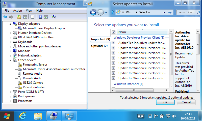 Dan Dar3: Windows 8 Developer Preview on ASUS R2H (take 2)