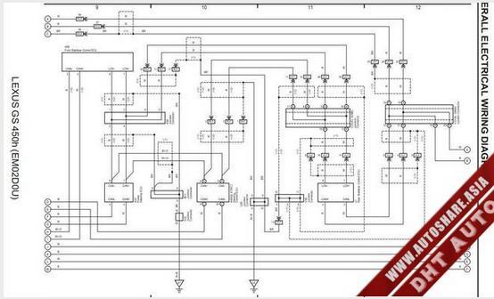 LEXUS GS450H 2007 WIRING DIAGRAM   Toyota Workshop Manual