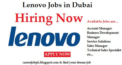 Jobs Opportunities in Lenovo Dubai