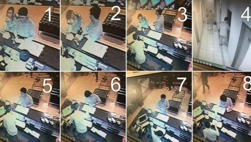 Fajar dan Bella terekam CCTV saat akan check in