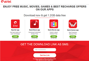 Free airtel internet trick ( Get 1.2 GB ) Download Airtel 4 Apps and get free Data worth 1.2 GB Data