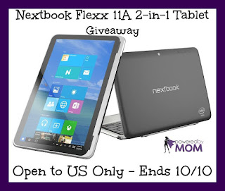 Enter the Nextbook Flexx 11A 2-in-1 Tablet Giveaway. Ends 10/10