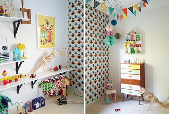 quarto infantil decorado, quarto infantil, berço, kids room, decoração, decor, papel de parede