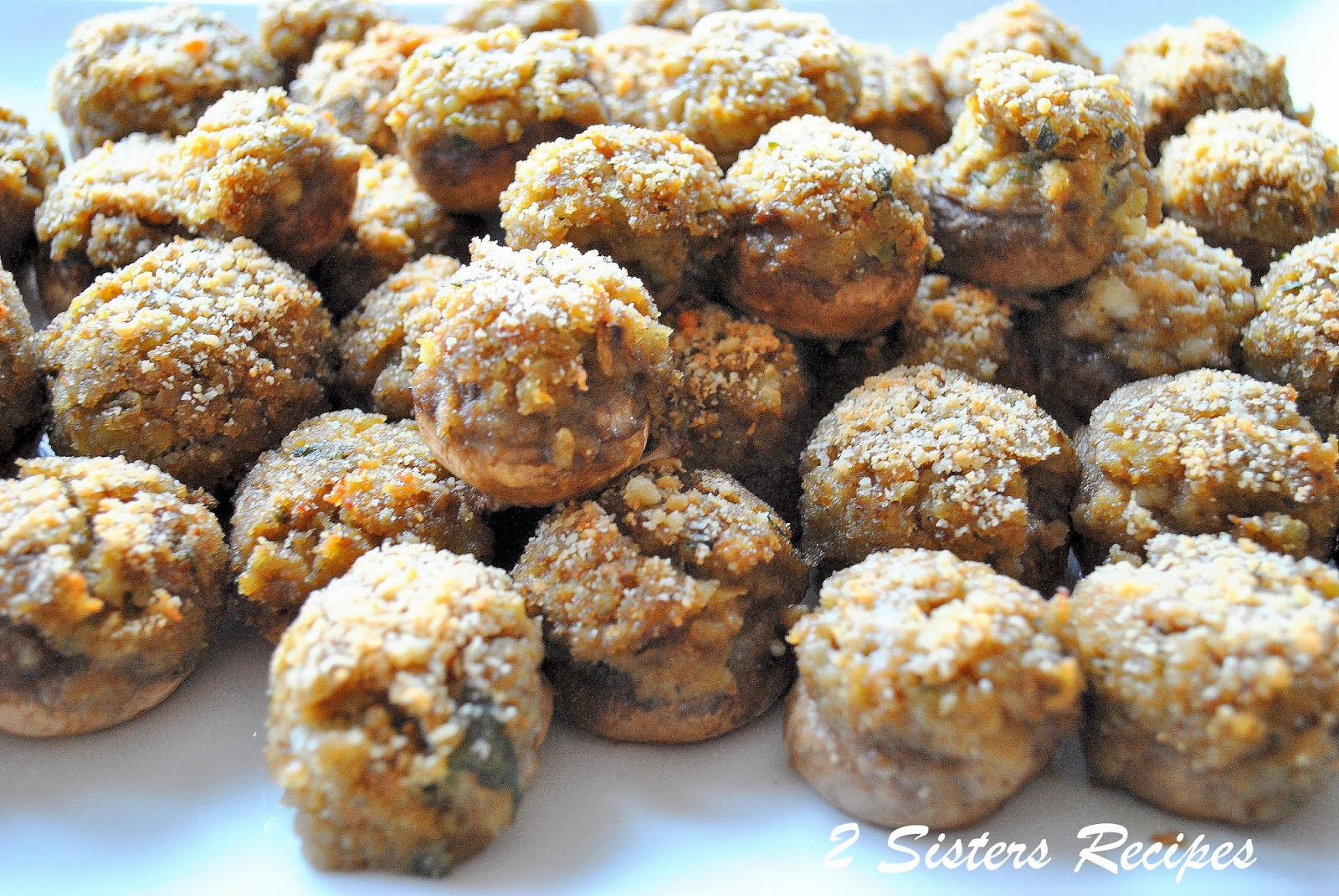 EASY Stuffed Mushrooms - 2 Sisters Recipes by Anna and Liz