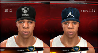 NBA 2K13 Jay-Z Cyber Face Patch Hat Mod