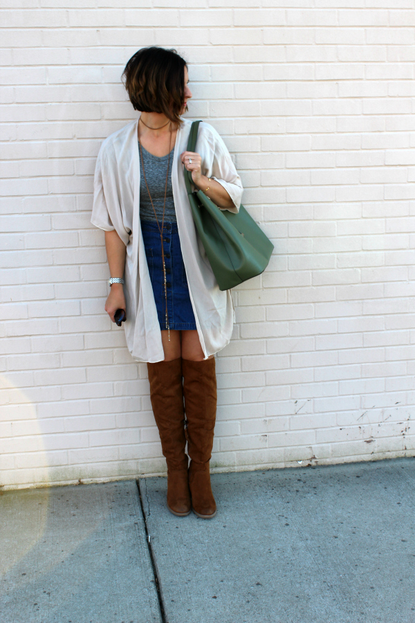 boho chic, mom style, over the knee boots