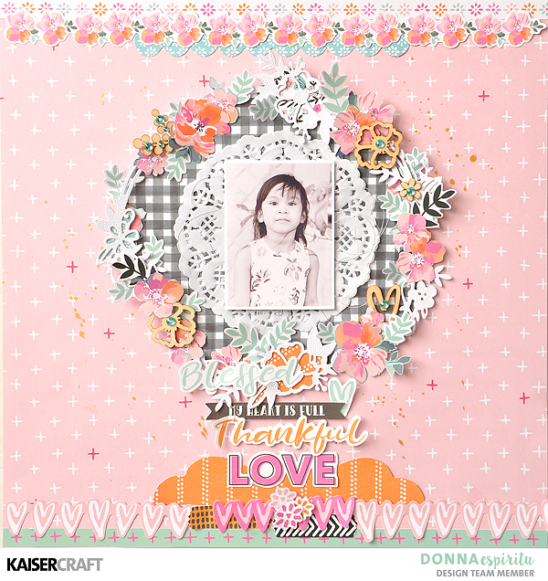 Kaisercraft: Bright and colorful scrapbook layout