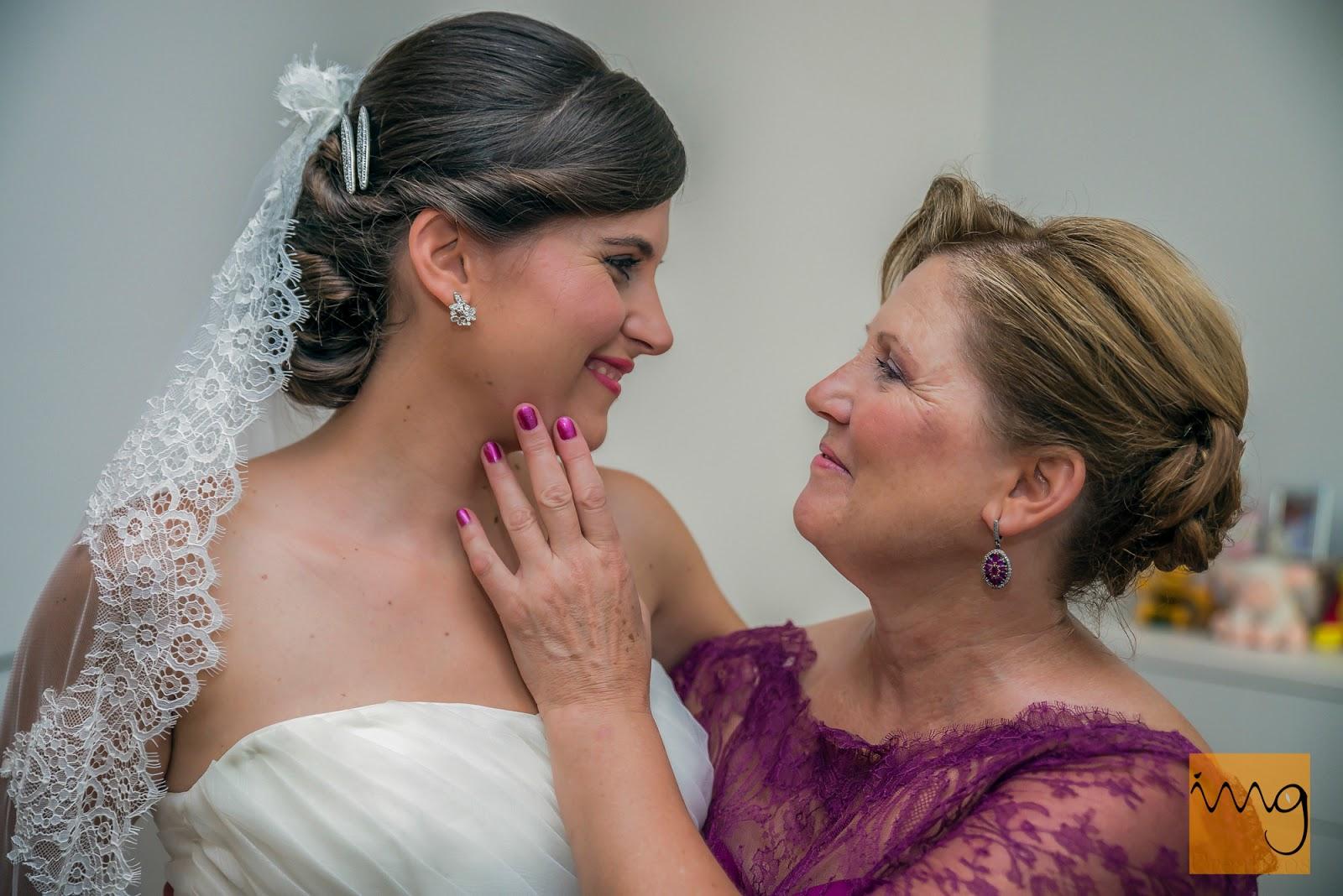 Fotografía de la novia con su madre