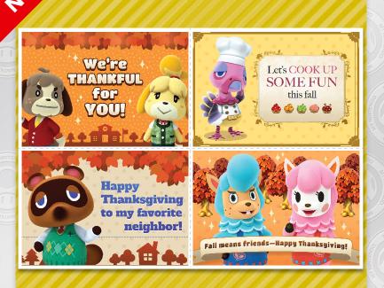 Happy November from Nintendo - Free Printables!