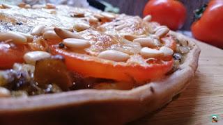 Tarta de tomate y berenjena