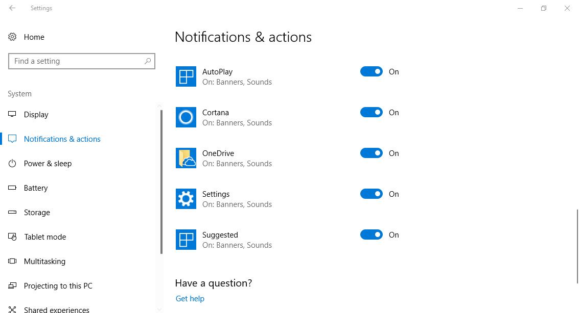 Hướng dẫn xóa bất kỳ một mục sender trong Get notifications from these senders
