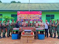 Satgas Yonmek 521 Musnahkan Ribuan Miras Ilegal di Perbatasan RI-PNG