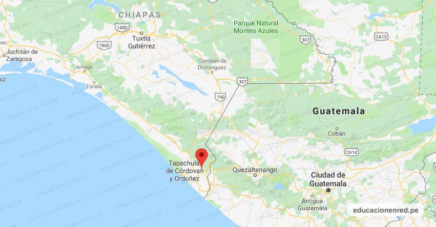 Temblor en México de Magnitud 4.3 (Hoy Domingo 01 Septiembre 2019) Sismo - Epicentro - Tapachula de Córdova y Ordoñez - Chiapas - CHIS. - SSN - www.ssn.unam.mx