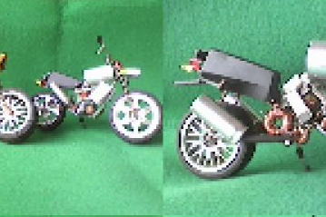 Keren juga miniatur moge ini, kira kira dibuat dari apa ya?