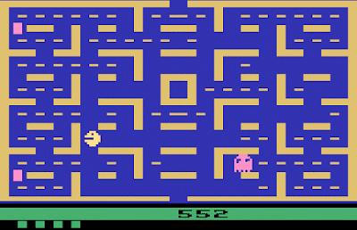 Juego de Pac-Man, el mas popular de la consola Atari 2600