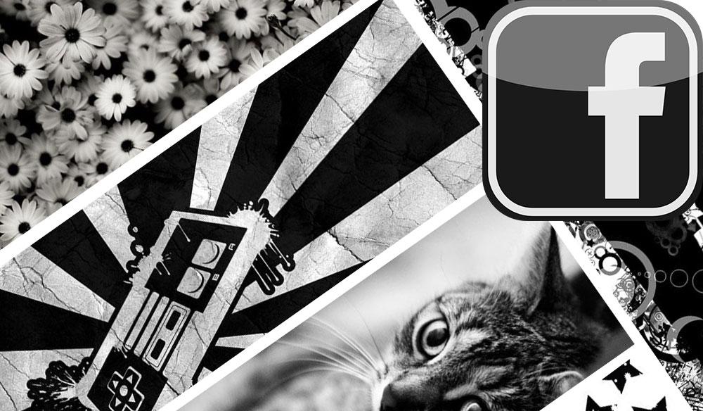 25 Siyah Beyaz Facebook Kapak Fotoğrafı