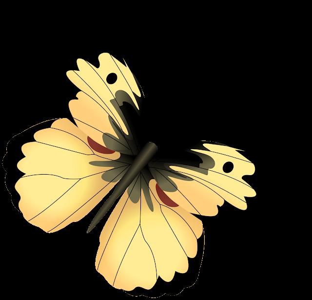 НАХОДЧИВЫЕ РФ: КЛИПАРТЫ: Желтые бабочки на прозрачном фоне ...