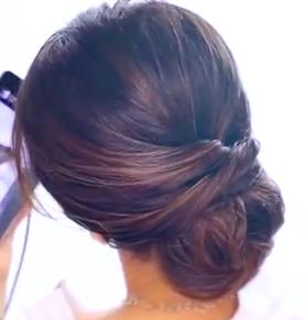 Easy 2 Minute Elegant Bun Updo Hairstyle Tutorial Easy Girls Hairstyles