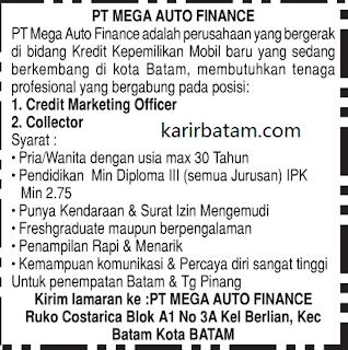 Lowongan Kerja PT. Mega Auto Finance