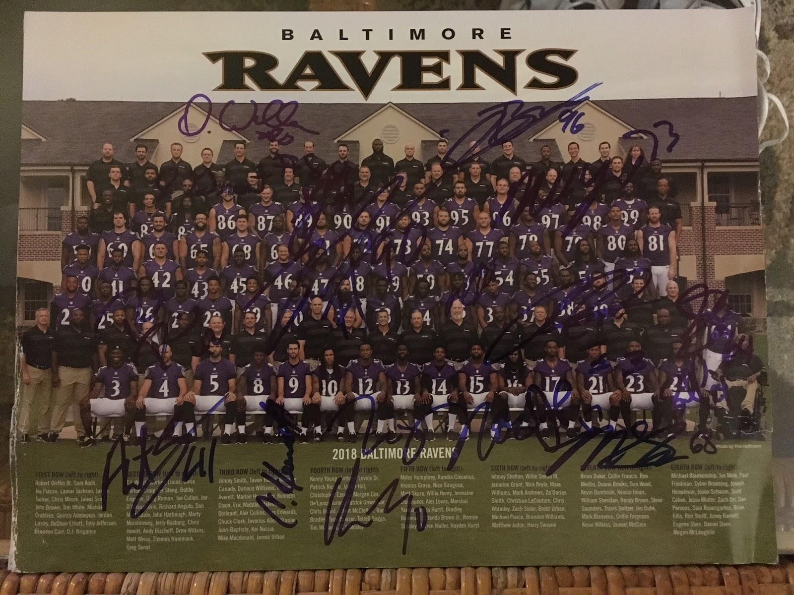Dions Autograph Collection Raiders Vs Ravens