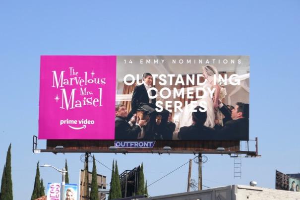 Mrs Maisel 2018 Emmy nominee billboard