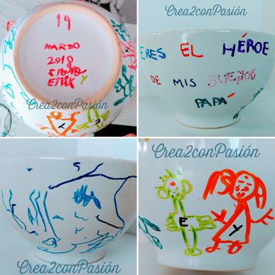 Tazón-pintado-a-mano-con-rotuladores-cerámicos-regalo-día-del-padre-Crea2-con-Pasión