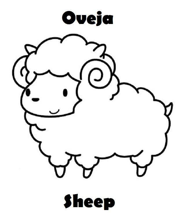 Mas Animales En Ingles Español Para Colorear Imagenes Para Dibujar