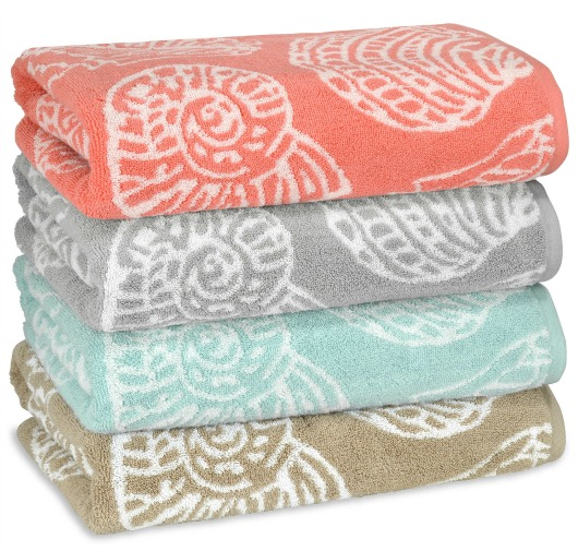 Seashell Bath Towels