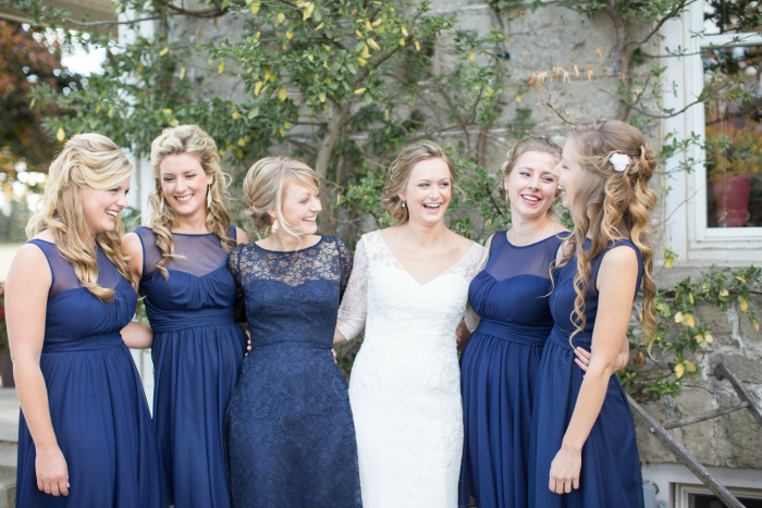 bride and her bridesmaids photography Photography: Violet Inspired Photography// Hair: Taming Rapunzel