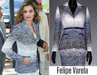 Queen Letizia wore FELIPE VARELA Coat