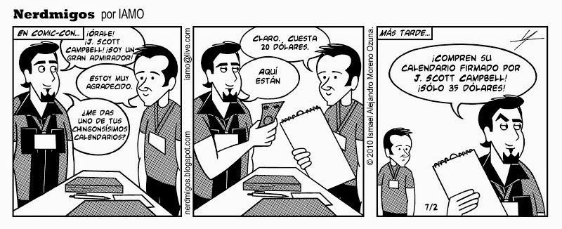 Nerdmigos Reverencia J. Scott Campbell Comic Con por IAMO