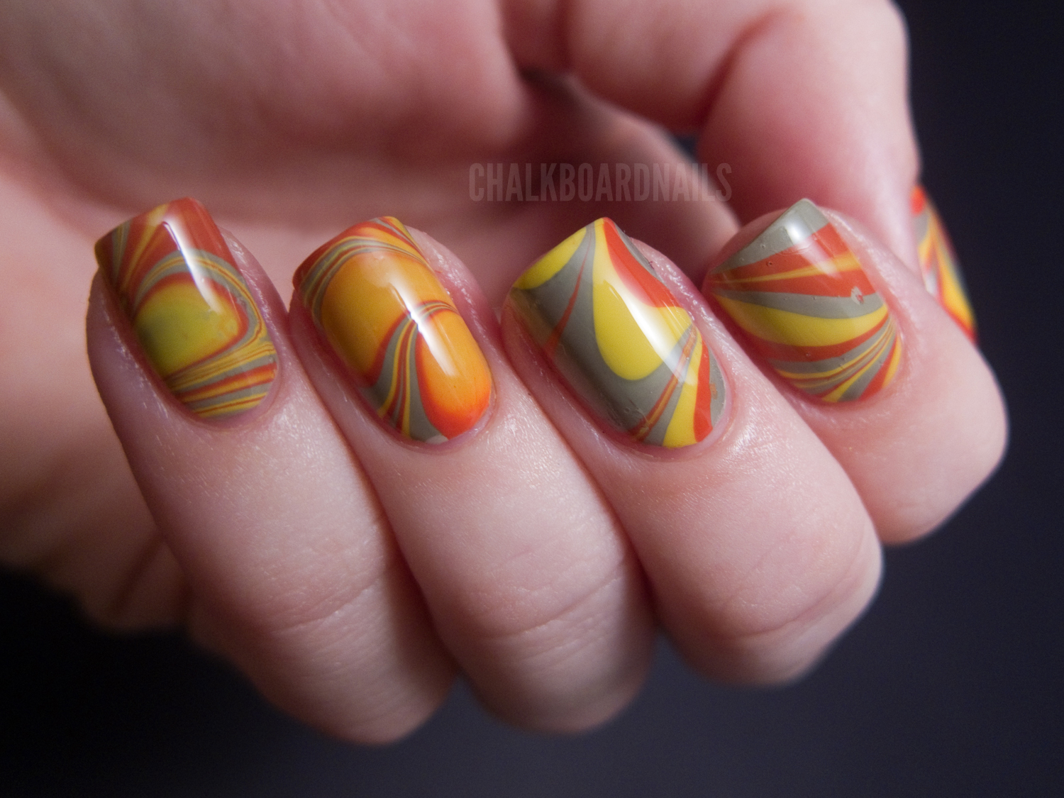 Water Nail Art: My First Successful Water Marble!