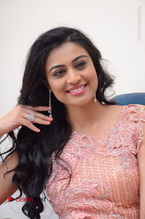 Actress Neha Hinge Stills in Pink Long Dress at Srivalli Teaser Launch  0058.JPG